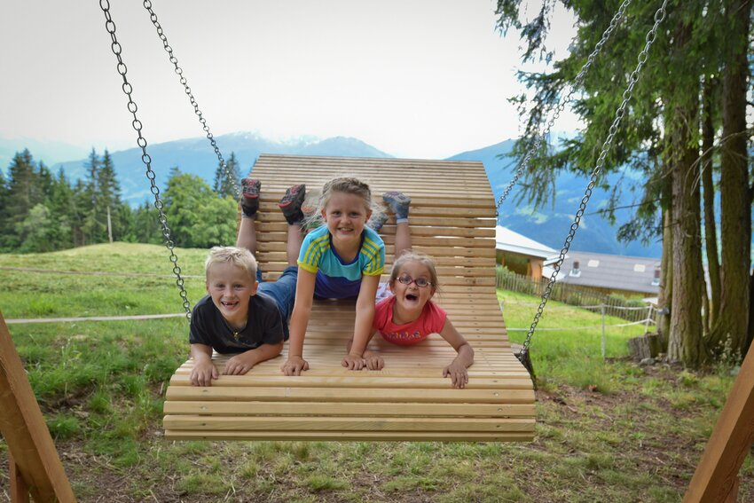 Children at Juppi Zauberwald in Reith im Alpbachtal