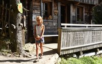 Girl at the Lauseralm in Lauserland