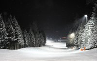 Night ski slope in Reith im Alpbachtal