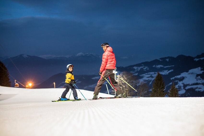 Nightskiing on Reither Kogel
